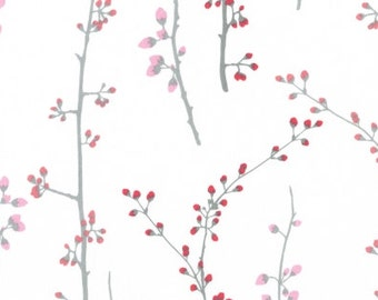 1/2 Yard Dear Stella Love Letters  Spring Branches Rose