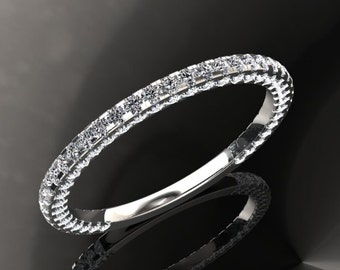 Diamond Wedding Band .56ct two Sided Round Diamonds 18kt White, Rose or Yellow Gold Diamond Band Wedding Band Diamond Band Wedding Ring