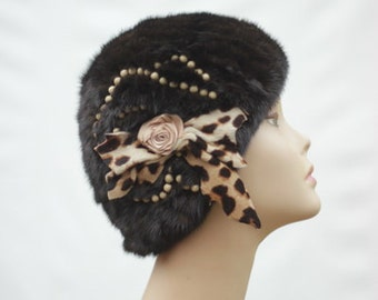 Black fur hats  Fur  womens hat  Black fur  hat  Ladies fur hat  Fur  hat for lady Women's fur hat Fur Mink Fur Hat for womens