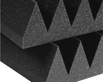 "Acoustic Foam 12 Pack Kit - Wedge 4"" 24"" x 24"" covers 48sq Ft - Sound Proofing/Blocking/Absorbing Acoustical Foam - Made in the USA!"