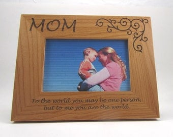 Personalized Wood Picture Frame- Mom
