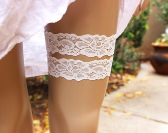 2 Garter Set, 50+ Lace Colors, Wedding Garter Belt, Thigh Garter, Garter Wedding, Custom Garter, Lace Garter, Simple Garter
