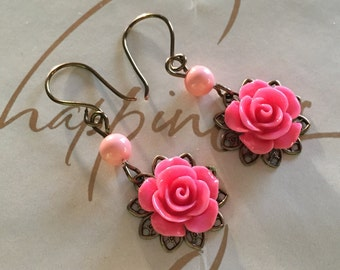 Vintage Style Cabochon Earrings