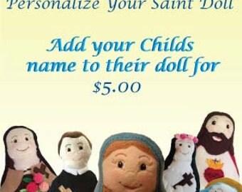 Personalized Saint Doll