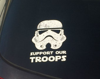 Stormtrooper Support Our Troops Vinyl Decal