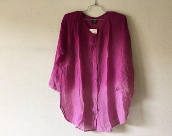Vintage 1980s Transparent Blouse Translucent