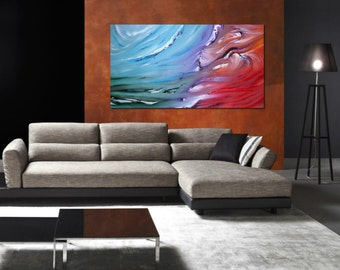 Dualism - Original abstract painting, oil on canvas, contemporary art
