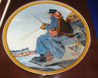 "Knowles 1987 Rockwell's Colonials Plate ""The Journey Home"""