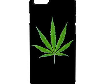 Weed Leaf Green iPhone Galaxy Note LG HTC Hybrid Rubber Protective Case
