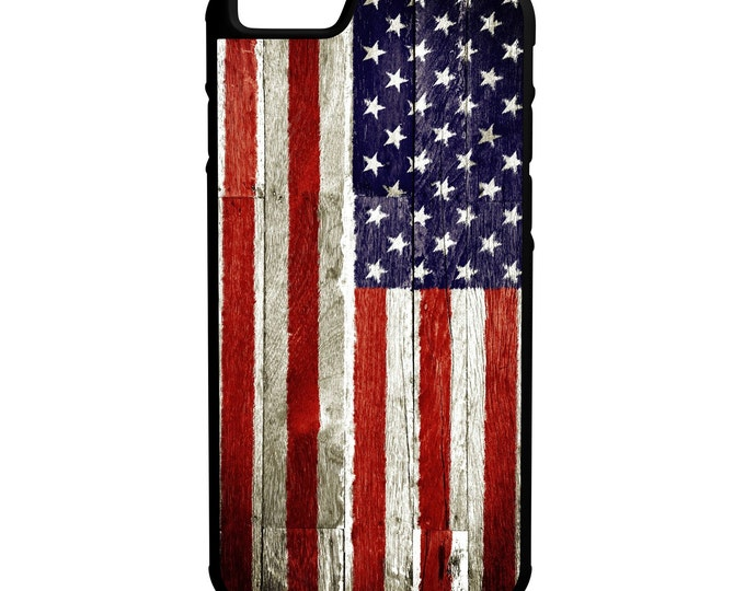 American Grunge Flag iPhone Galaxy & Hybrid Rubber Protective Case