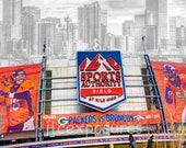 Denver Broncos Mile High Stadium  16 x 20 mounted on a black mat #1447
