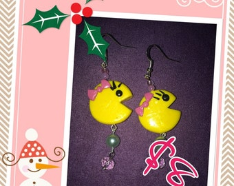 Ms. Pacman Dangle Earrings