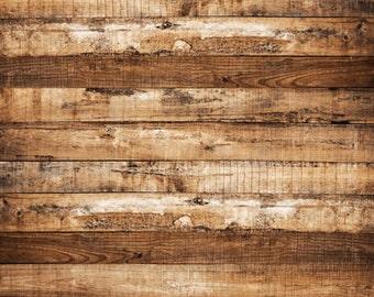 Brown peeling wooden floor Printed photography backdrop weathered wood Floordrop D-4132