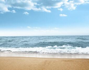Beach Backdop, Newborn seaside Photography Backdrop D-7966