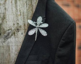 Crystal bead flower button hole boutonniere , colour choice