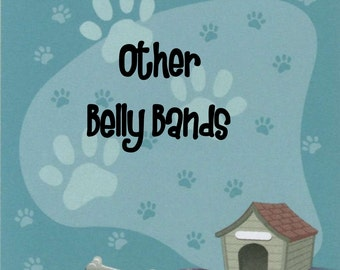 Male Dog Belly Band - FABRIC BY CONVERSATION