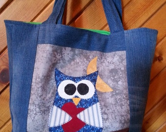 Blue jean OWL (all) Occasions Bag