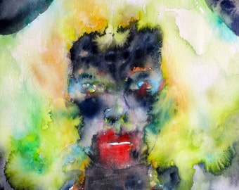 FRANCESCA - original watercolor painting - one of a kind!