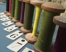Large Aubusson Tapestry Bobbins Filled with the Original Fine Unused Wool from Limousin France