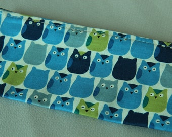 Hand printed Pencil pouch, zipper pouch, cosmetic pouch,cotton printed pouch #10