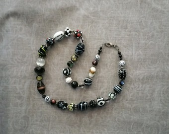 Lampwork orphan bead necklace.
