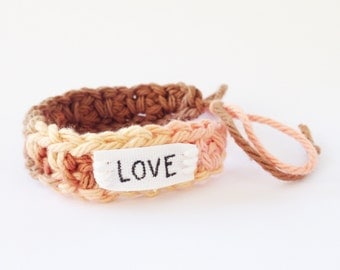 Affirmation bracelet | crocheted bracelet | Friendship bracelet
