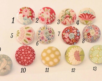 Fabric Buttons, Tilda Fabric Covered Buttons