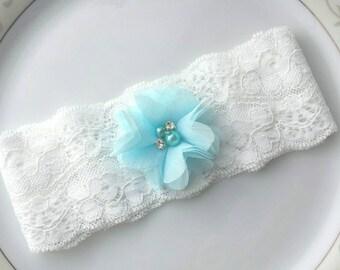 Bridal Garter Belt,Blue,Simple Garter,Flower Bridal Garter,Wedding Garter Belt,Custom Garter Belt,Prom,Bachelorette Garter,Single Garter
