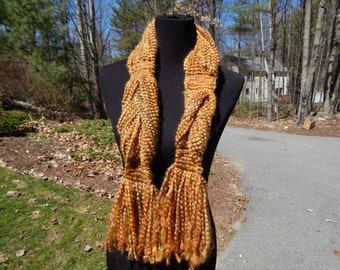 Sewn Gold and Green Scarf