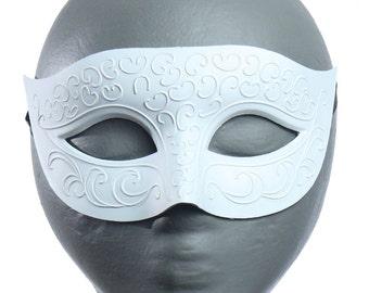 Paintable White Swirls Eyemask