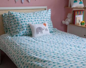 Turquoise Elephant pillowcase