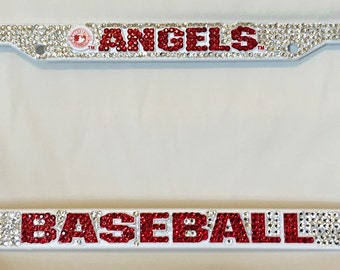los angeles baseball bling license plate frame sports license plate frame bling license plates baseball license plate