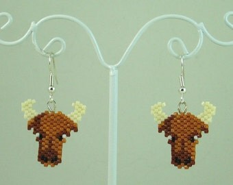 Bull Beaded Earrings