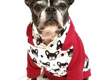 Boston Terrier print hoodie