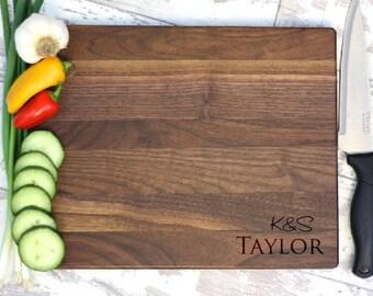 Custom Cutting Board - Personalized Cutting Board - Cutting Board - Walnut Cutting Board - Engraved Cutting Board - Custom Wedding Gift