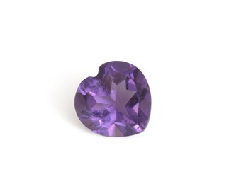 Uruguayan Amethyst Heart Cut Loose Gemstone 1A Quality 6mm TGW 0.65 cts.