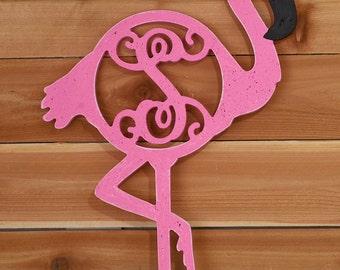 """22.5"""" Unfinished Flamingo Monogram"""