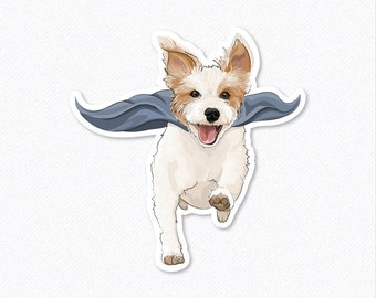 Super Ginny - Jack Russell Terrier - Decal Sticker