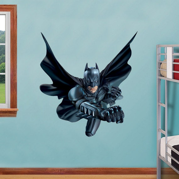 Dark knight attack decal wall sticker home decor by for Dark knight mural