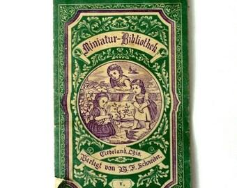 SUMMER CLEARANCE Antique Miniature Library German Children's Book