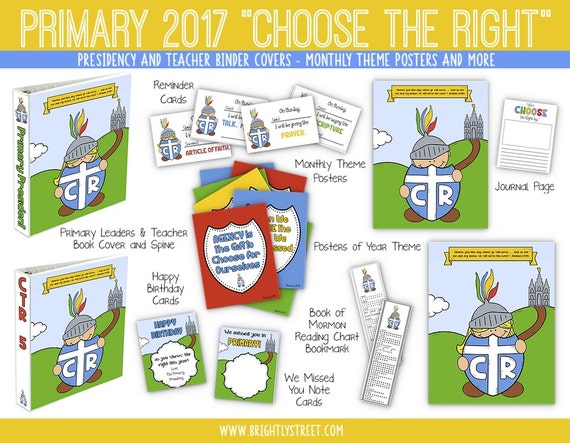 LDS Primary Choose the Right Sharing Time Helps