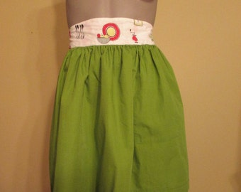 1950s Apple Green Half Apron