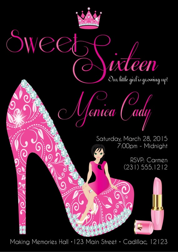 Cinderella Sweet 16 Invitations for luxury invitations sample
