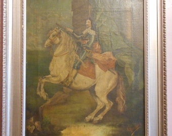 """James Berger painting oil on canvas of about 1750 """"Tommaso of Carignano, principe di Savoia"""""""