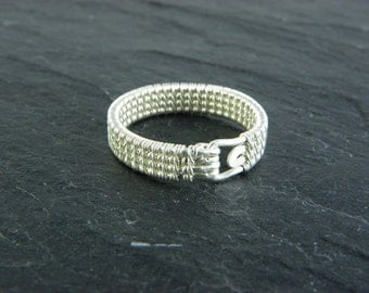 Aifric, Woven Ring in Sterling Silver.