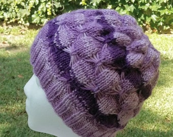 Knit hat, Knit hat for women's, butterfly hat, On sale