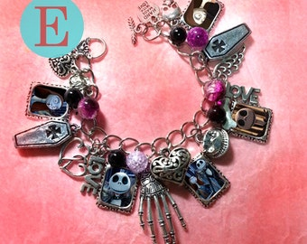 Tim Burton  The nightmare before christmas charm earrings brooch bracelet