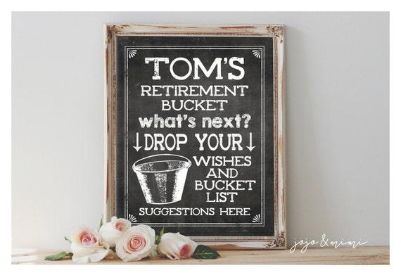 personalized retirement bucket list printable by jojomimi