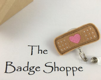 Bandaid on a Retractable ID Badge Holder-Nursing Gifts-Stocking Stuffers-Cute Badge Reels