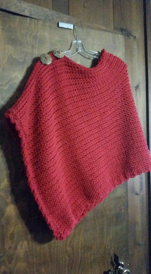 Favorite Poncho - a loom knit pattern